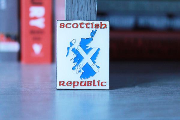 Scottish Republic enamel badge