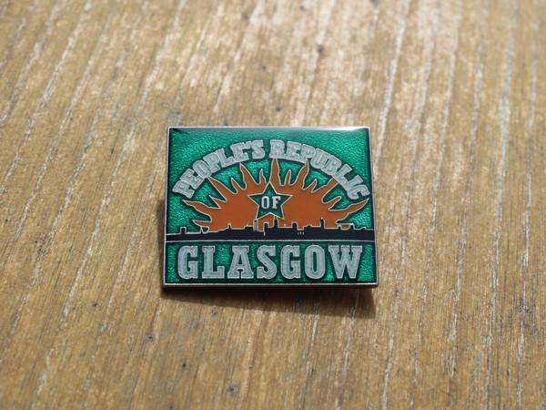 People's Republic of Glasgow (GREEN) enamel badge