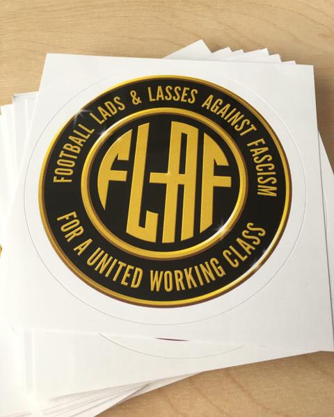FLAF (Football lads & lasses against fascism) 100 vinyl stickers