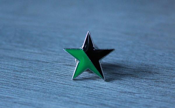 Black and Green Star (Eco-Anarchist) enamel badge