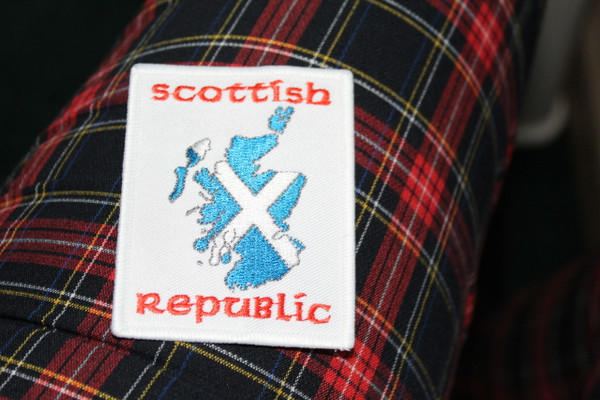 Scottish Republic Iron on embroidered patch