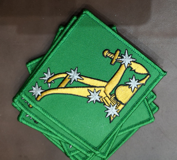 Green Starry Plough original iron on patch