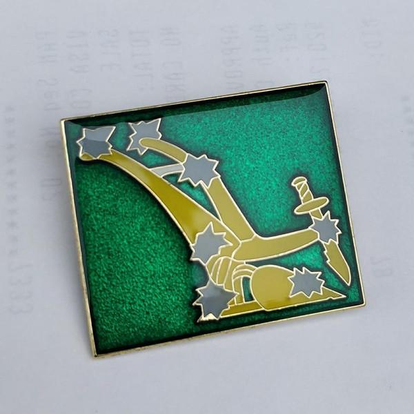 Starry Plough original enamel badge