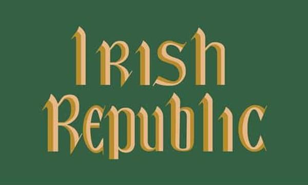 Reproduction Irish Republic 8 feet x 5 feet flag.