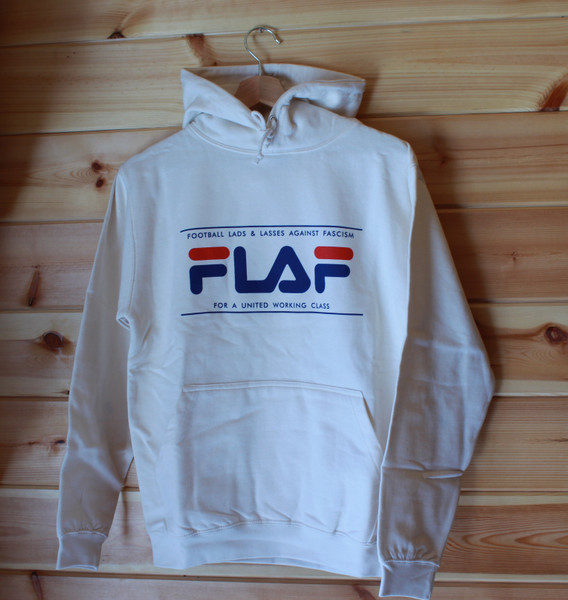 FLAF cream antifascist hoody