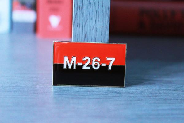Cuban revolutionary M-26-7 26th July Movement enamel badge