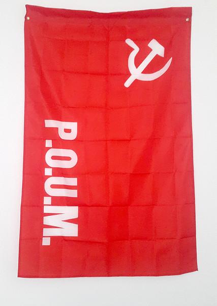 POUM (PARTIDO OBRERO DE UNIFICACIÓN MARXISTA) REPRODUCTION FLAG