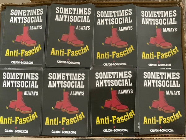 Doc Martin Antifascist stickers size 14.5 x 10.5 cm