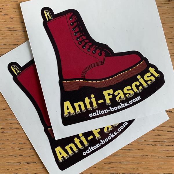 Doc Marten antifascist vinyl stickers