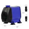 50-1450 GPH Aquarium Fish Tank Fountain Submersible Water Pump