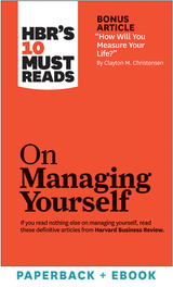 HBR's 10 Must Reads on Managing Yourself (Paperback + Ebook) ^ 1037BN