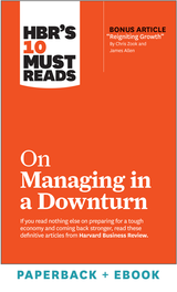 HBR's 10 Must Reads on Managing in a Downturn (Paperback + Ebook) ^ 1089BN
