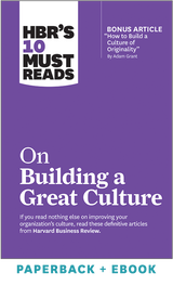 HBR's 10 Must Reads on Building a Great Culture (Paperback + Ebook) ^ 1093BN