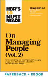 HBR's 10 Must Reads on Managing People, Vol. 2 (Paperback + Ebook) ^ 1098BN
