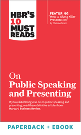 HBR's 10 Must Reads on Public Speaking and Presenting (Paperback + Ebook) ^ 1101BN