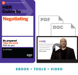 HBR Guide to Negotiating Ebook + Tools + Video ^ 10076