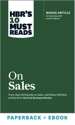 HBR's 10 Must Reads on Sales (Paperback + Ebook) ^ 1046BN