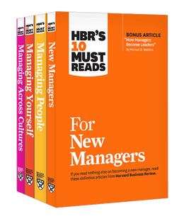 HBR's 10 Must Reads for New Managers Collection (4 Books) ^ 10314