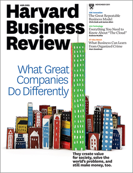 Harvard Business Review, November 2011 ^ BR1111