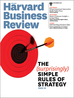 Harvard Business Review, September 2012 ^ BR1209