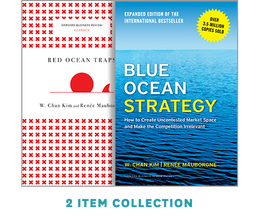 "Blue Ocean Strategy with Harvard Business Review Classic Article ""Red Ocean Traps"" (2 Books) ^ 10179"