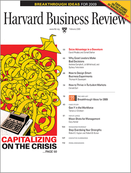 Harvard Business Review, February 2009 ^ BR0902