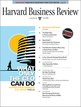 Harvard Business Review, May 2009 ^ BR0905