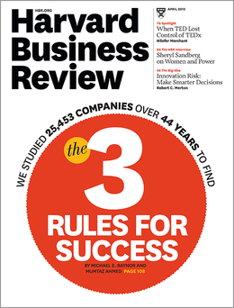 Harvard Business Review, April 2013 ^ BR1304
