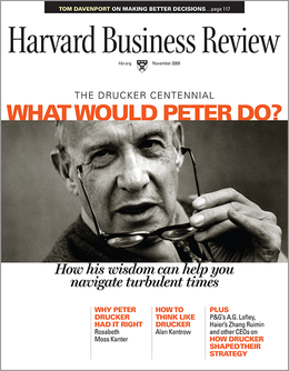 Harvard Business Review, November 2009 ^ BR0911