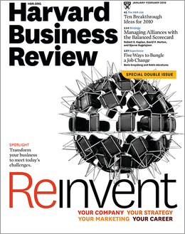 Harvard Business Review, January/February 2010 ^ BR1001