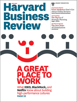 Harvard Business Review, January/February 2014 ^ BR1401