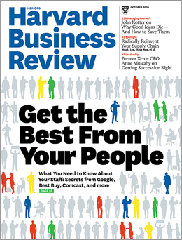 Harvard Business Review, October 2010 ^ BR1010