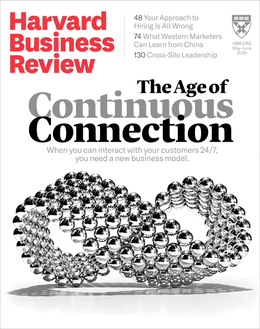 Harvard Business Review, May/June 2019 ^ BR1903