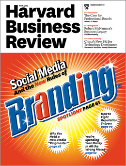 Harvard Business Review, December 2010 ^ BR1012