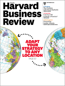 Harvard Business Review, September 2014 ^ BR1409