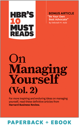 HBR's 10 Must Reads on Managing Yourself, Vol. 2 (Paperback + Ebook) ^ 1117BN