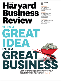 Harvard Business Review, May 2013 ^ BR1305