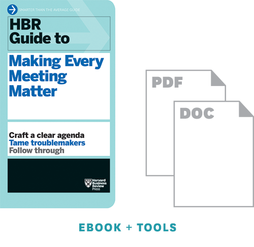 HBR Guide to Making Every Meeting Matter Ebook + Tools ^ 10139