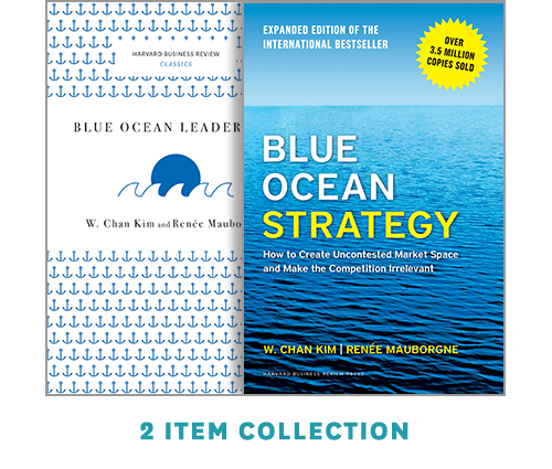 """Blue Ocean Strategy with Harvard Business Review Classic Article """"Blue Ocean Leadership"""" (2 Books) ^ 10178"""