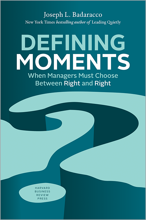 Defining Moments: When Managers Must Choose between Right and Right ^ 10085