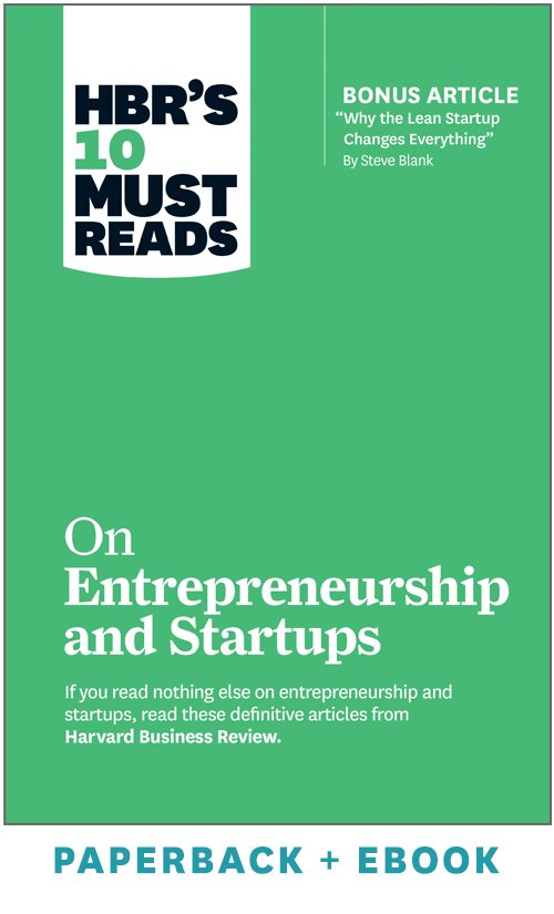 HBR's 10 Must Reads on Entrepreneurship and Startups (Paperback + Ebook) ^ 1057BN