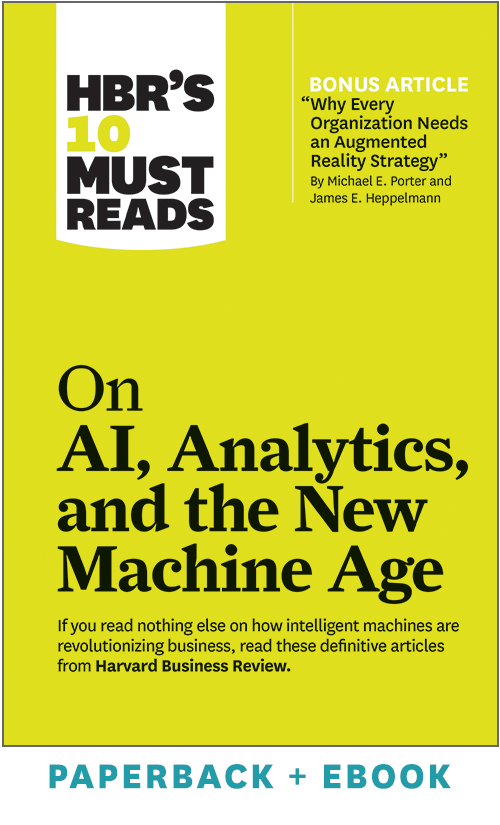 HBR's 10 Must Reads on AI, Analytics, and the New Machine Age (Paperback + Ebook) ^ 1073BN