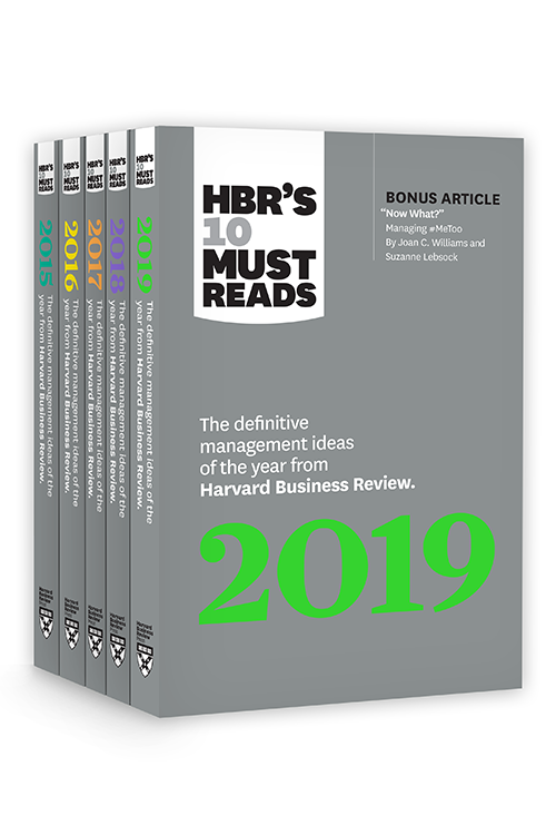 5 Years of Must Reads from HBR: 2019 Edition (5 Books) ^ 10312