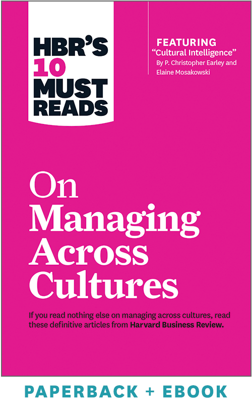 HBR's 10 Must Reads on Managing Across Cultures (Paperback + Ebook) ^ 1035BN