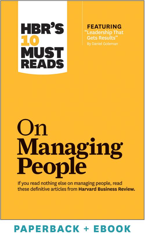 HBR's 10 Must Reads on Managing People (Paperback + Ebook) ^ 1036BN
