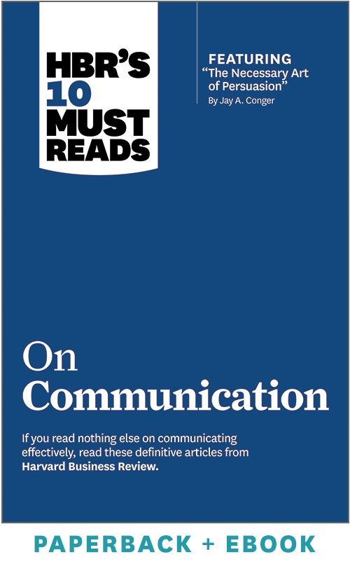 HBR's 10 Must Reads on Communication (Paperback + Ebook) ^ 1031BN