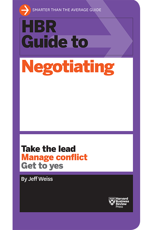 HBR Guide to Negotiating ^ 15027