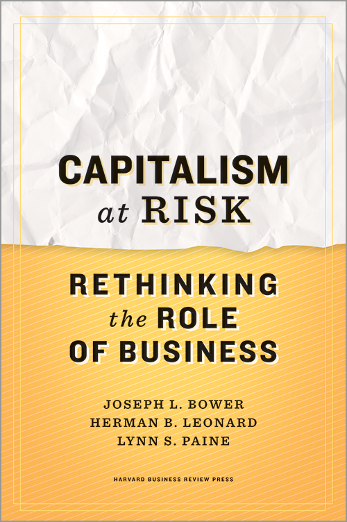 Capitalism at Risk: Rethinking the Role of Business ^ 13297
