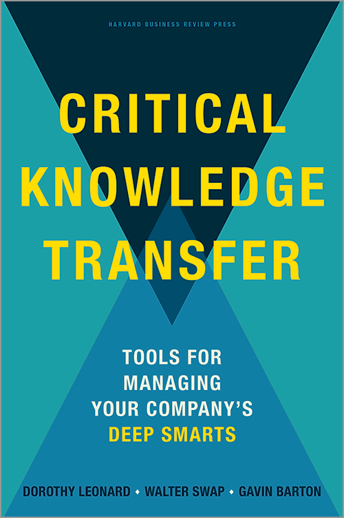 Critical Knowledge Transfer: Tools for Managing Your Company's Deep Smarts ^ 16568