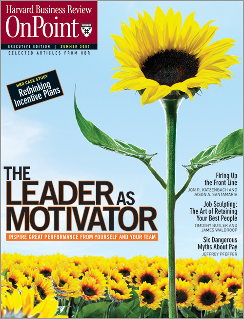Leader as Motivator: Inspire Great Performance from Yourself and Your Team (HBR OnPoint Executive Edition) ^ 2270